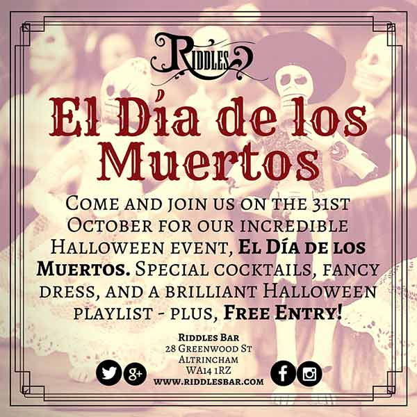 5 Reasons not to miss the Riddles Halloween Event!